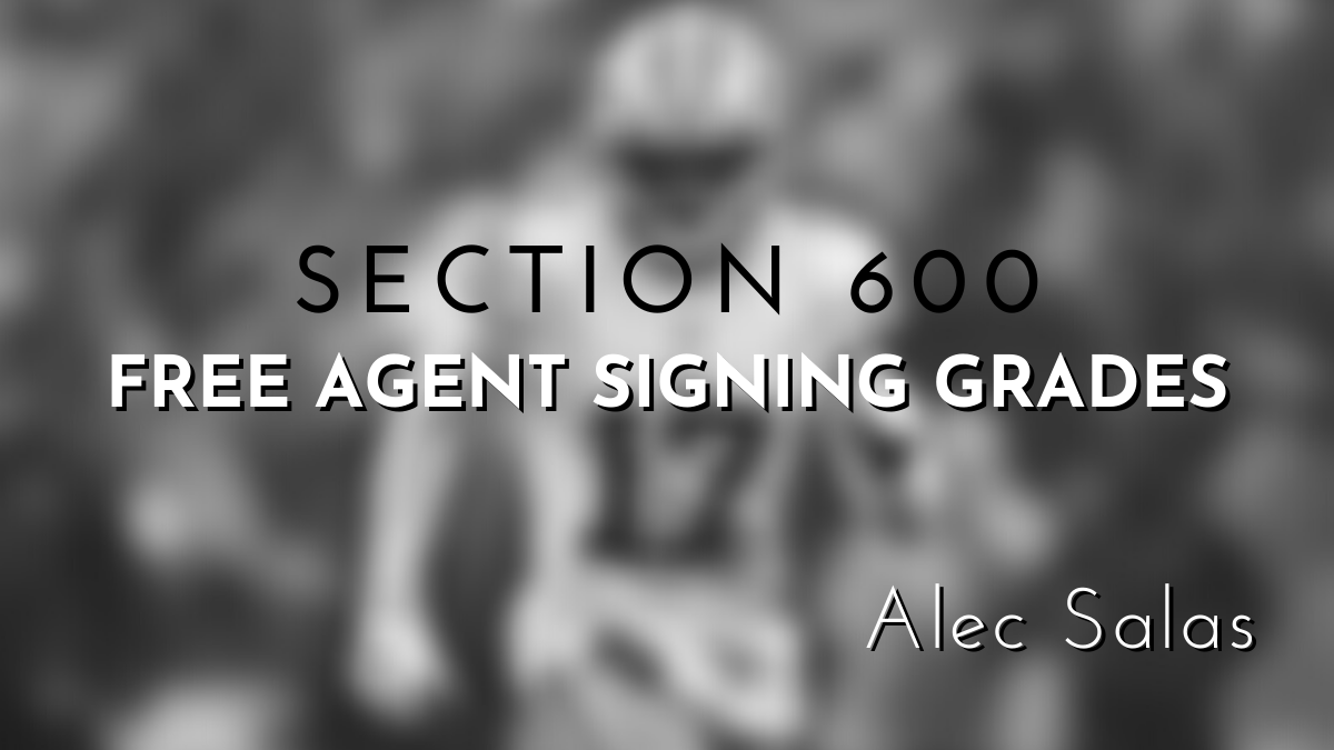Section 600 free agent signing banner
